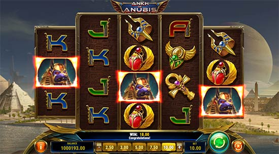 Ankh of Anubis slot fra Play n 'GO.