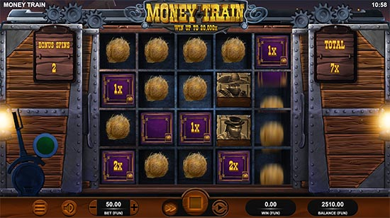 Money Train-slot fra Relax Gaming.