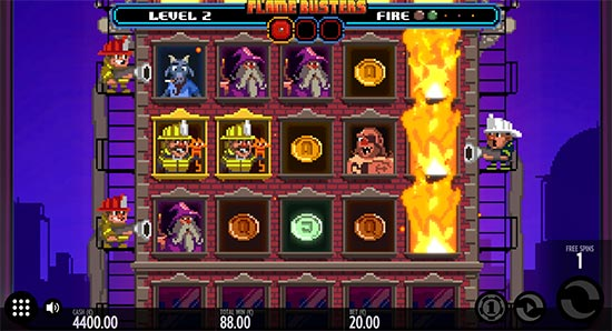 Roasty McFry and the Flame Busters slot fra Thunderkick.