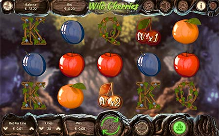 Tämä on Wild Cherries 5-kiekon slot peli Booming Gamesilta.